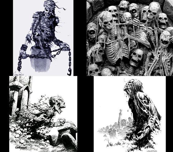 Die Untoten Skelette und Ghoule