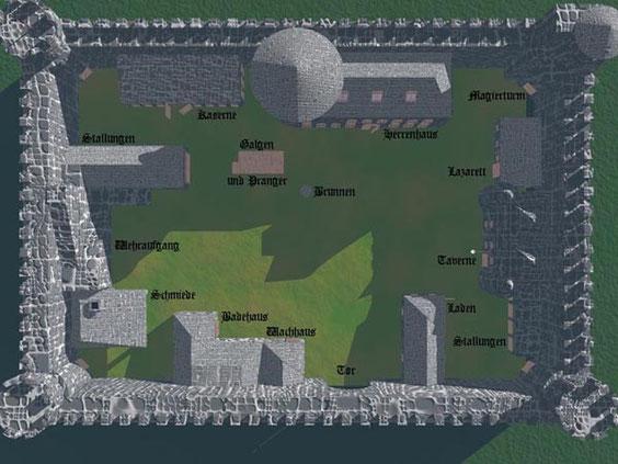 Fort Castir in der Grafschaft Gieroch - Landsitz von Fürst Airir