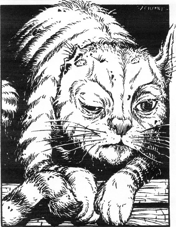 Akels Seele im Körper der Katze