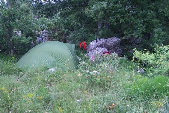 палаточный отдых на природе