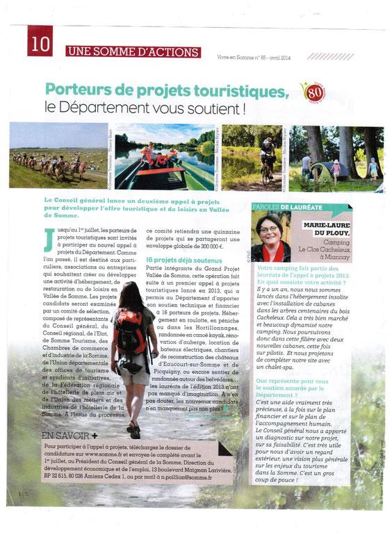 Vivre en Somme avril  2014 les arbres  du Clos Cacheleux