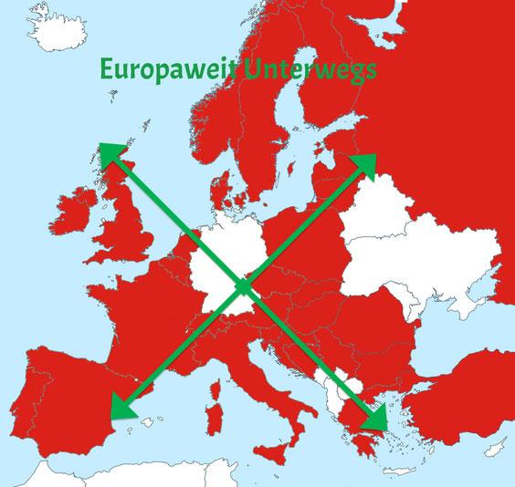 Europaweit Unterwegs