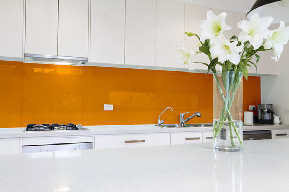 Glasrückwand Küche - Küchenrückwand farbig - glasposter.com
