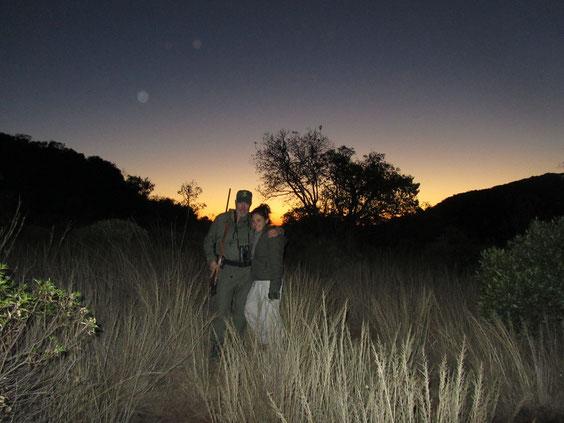 Inshonalanga, il sole va a dormire. E' l'ora del leopardo.