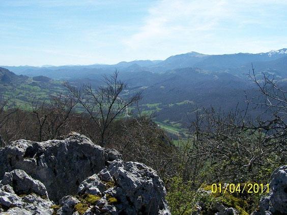 la vue du sommet
