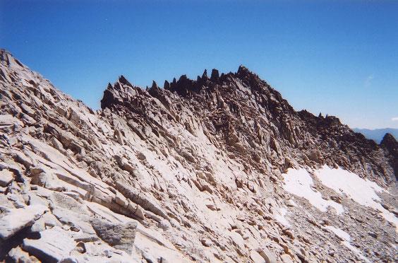 la crête et le sommet