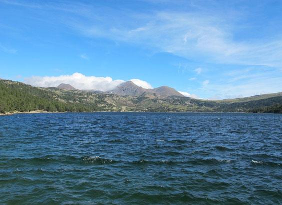 le lac des Bouillouses du barrage