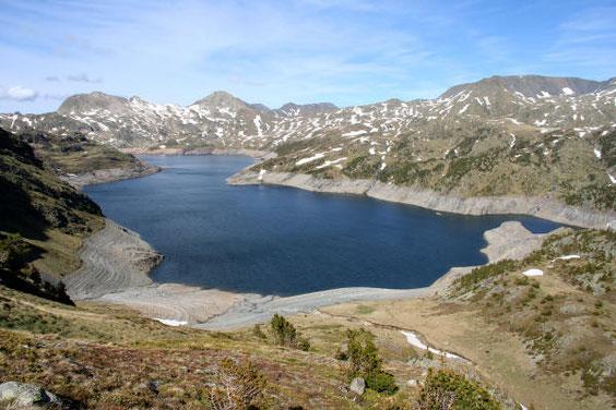 l'étang, vue du pic de la Grava