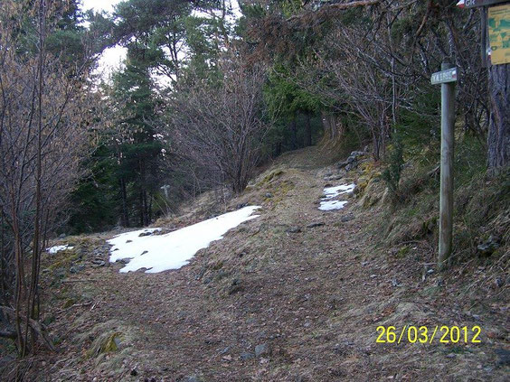 chemin horizontal, 1410 m