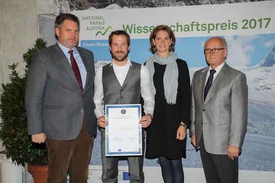 Nationalparks Austria Science Award ceremony at the University of Salzburg