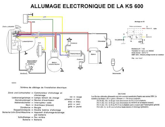 Circuit avec allumage électronique