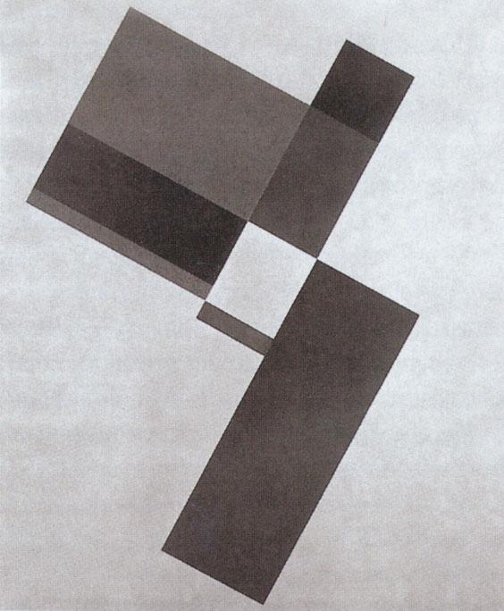 Friedrich Vordemberge-Gildewart, Komposition K33, 1927, verschollen, aus Friedrich Vordemberge-Gildewart.. Zum 100. Geburtstag, S. 80