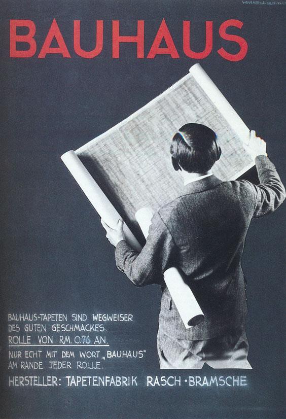 Bauhaus-Tapete, 26. Plakatentwurf, 1933, (T162), aus Typografie Museum Wiesbaden, S.37, © Museum Wiesbaden, Archiv Friedrich Vordemberge-Gildewart
