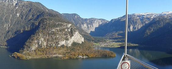 Blick vom Hallstätter Salzberg