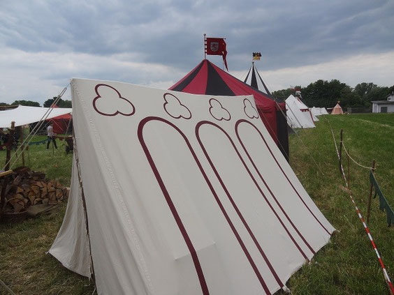 Unser Verpflegungszelt  A Zelt 2,5 X 3.0m Höhe 2,0m