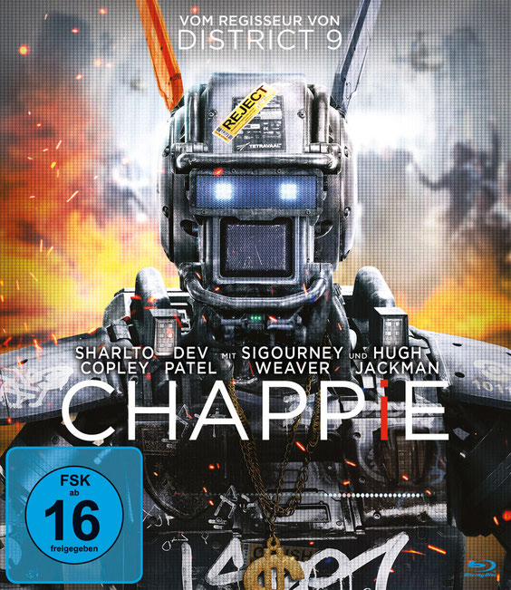 Chappie Bluray DVD - Sony - kulturmaterial - Cover