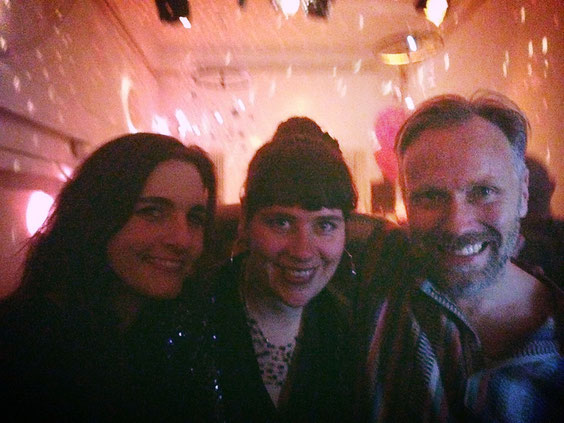 Meike, Sasa und Stefan bei der 5 Jahre Sängerknaben & Sirenen Sause, 2014