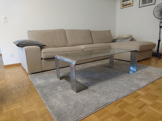 Tisch, salontisch, coffee table,metalltisch, chromstahltisch,cla coray