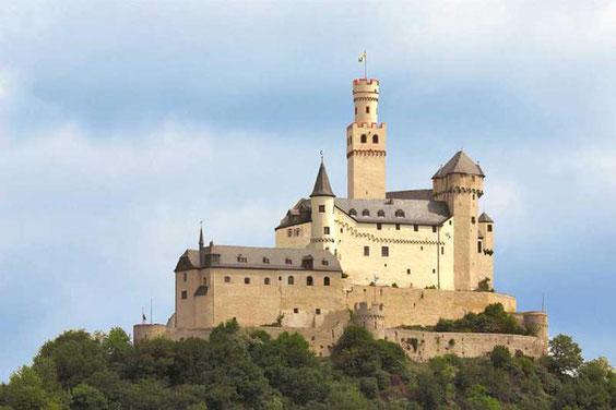 Sehenswürdigkeit  Deutschland Ritter Burg Marksburg Braubach am Rhein