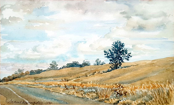 """Country road""   watercolour. Courtesy of Robert & Terry Barton"