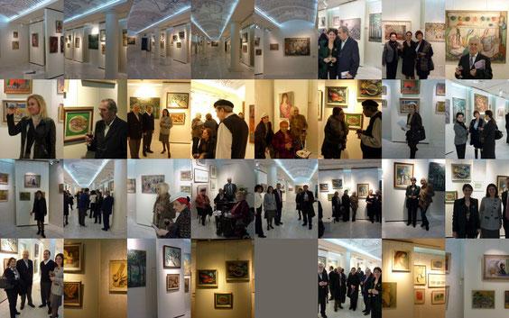 Quelques aperçus du vernissage de l'exposition retrospective de mon feu mère, l'artiste-peintre, collectionneuse de tableaux et mécène: Jale YASAN.
