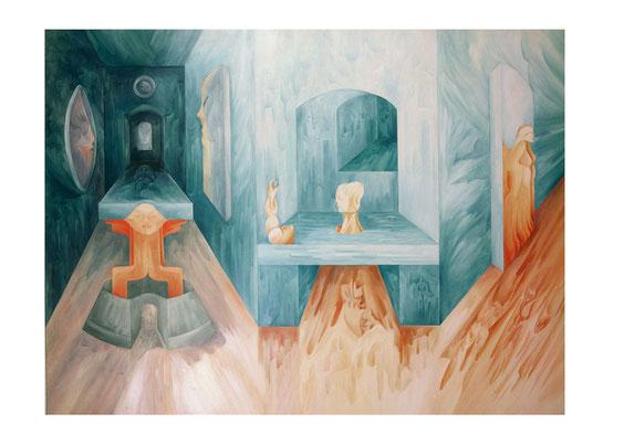""""""" LA RESOLUTION DES MURS """"130 x 97 cm. (Huile sur Toile)"""