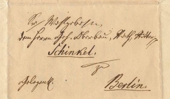 K. H. F. von Houwald an Schinkel.
