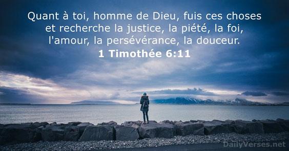 Combattons le bon combat de la foi en gardant une bonne conscience. Certains chrétiens ont fait naufrage par rapport à la foi parce qu'ils n'ont pas écouté leur conscience (1 Timothée 1 : 18-19).  D'autres sont tombés dans le piège du matérialisme.