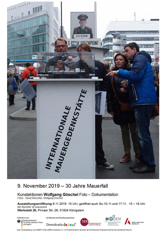 Flyer 9.November 2019, 30 Jahre Mauerfall