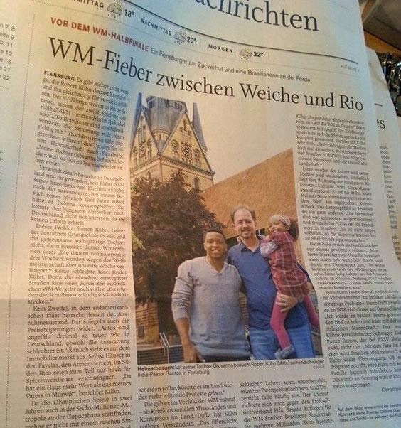 Flensburger Tageblatt vom 8. Juli 2014