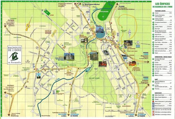Plan de Bagnoles de l'Orne  (les Roses et les Bleuets secteur G5)