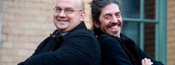 Die Erfinder des Science Slam Alex Dreppec und Axel Röthemeyer