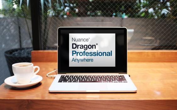 Dragon Professional Anywhere op laptop in de cloud
