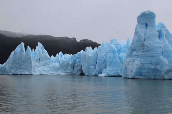 Bleu incroyable du glacier Grey