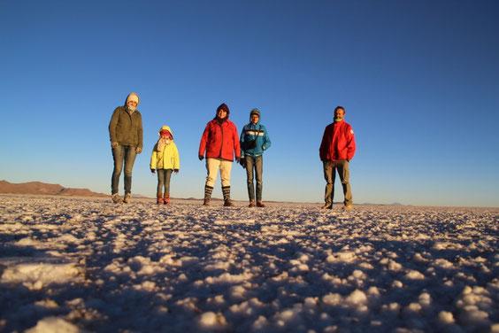 Lever de soleil sur le salar d'Uyuni