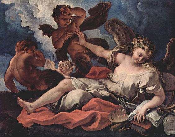 Alegoría del arte (1690-1694), de Sebastiano Ricci.