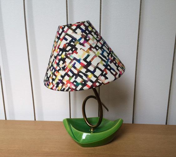joli, lampe vintage, lampe céramique