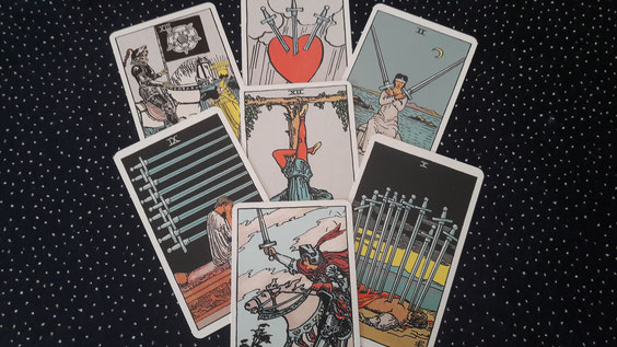 Tarotdeck mit Negativen Karten