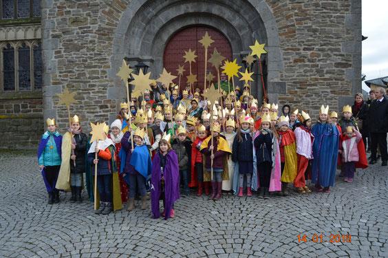 Sternsinger vor St. Margareta