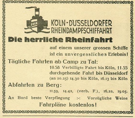 KD Fahrplan von 1919