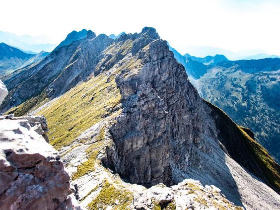 Der fantastische Felsgrat des Hindelanger Klettersteigs