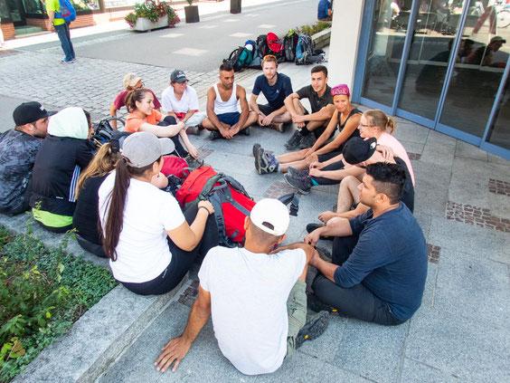 Abschlussrunde in Oberstdorf. Was hat euch besonders gefallen? Waren eure anfänglichen Ängste begründet?