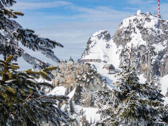 Mitten im Berg, das Wendelstein Haus