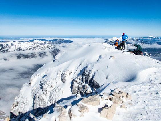Auf dem Gipfel der Alpspitze.
