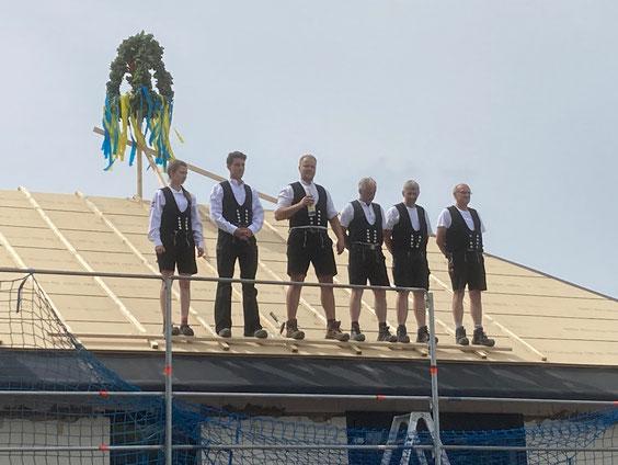 Förderbescheidübergabe Heimathaus Wilstedt (Foto: Samtgemeinde Tarmstedt, 2021)