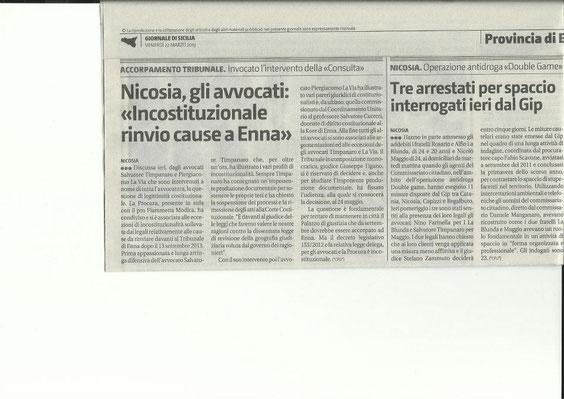 Giornale di Sicilia, 27 marzo 2013