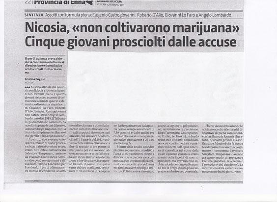 Giornale di Sicilia - 15 febbraio 2013