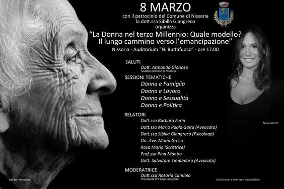 8 Marzo 2013 - La donna nel terzo millennio. Quale modello ? Il lungo cammino verso l'emancipazione.