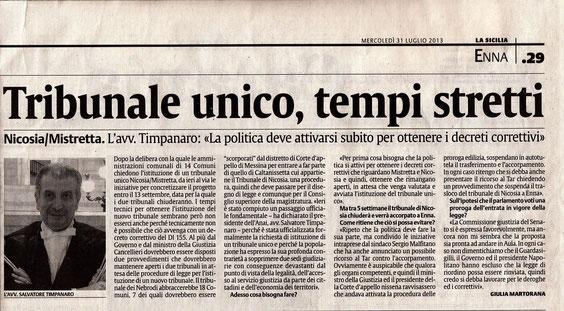 La Sicilia - Mercoledì 31 luglio 2013