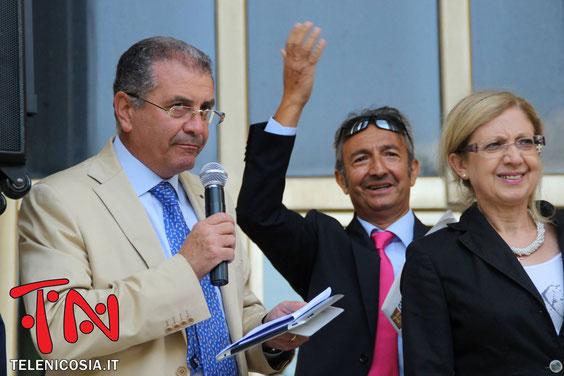 Con l'Avv. Piergiacomo La Via e la Dott.ssa Maria Di Costa, Presidente del Consiglio Comunale di Nicosia